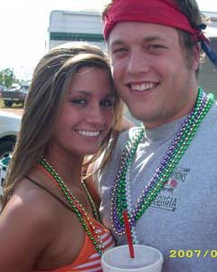 Matt Stafford with hot girlfriend - 2009 NFL Mock Draft Updated 4/25