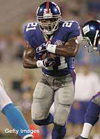 Tiki Barber's absence makes the Giants a lot worse.
