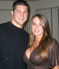 Tim Tebow with Google girl - 2011 NFL Mock Draft