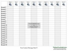 graphic relating to Fantasy Football Draft Sheets Printable named : 2013 Myth Soccer Draft Discussion boards