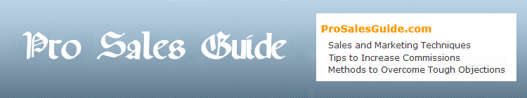 ProSalesGuide sales site banner, sales training, sales planning, sales strategies, sales blogs